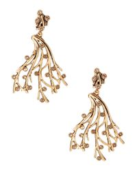 Oscar de la Renta | Metallic Swarovski Crystal Vine Earrings | Lyst