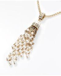 Ann Taylor - Metallic Treasure Tassel Pendant Necklace - Lyst