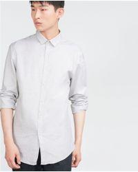 Zara | Gray Jacquard Shirt for Men | Lyst