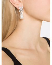 Fantasia Jewelry - White Cluster Pearl Earrings - Lyst