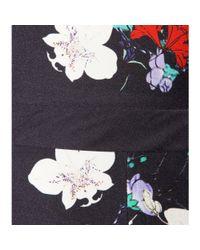 Erdem - Blue Floral-Print Silk Dress - Lyst