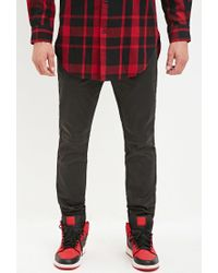 Forever 21 | Black Coated Chino Joggers for Men | Lyst