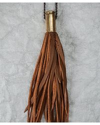 Botticelli's Niece - Brown Bullet Tassel Necklace - Lyst