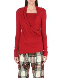 Vivienne Westwood Anglomania | Red Draped Jersey Top | Lyst