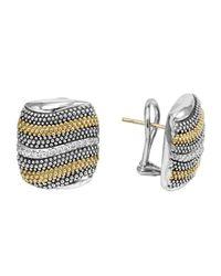 Lagos | Metallic Soiree Diamond Caviar Wave Earrings | Lyst