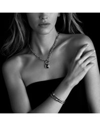 David Yurman - Albion® Pendant With Black Orchid And Diamonds, 14mm - Lyst