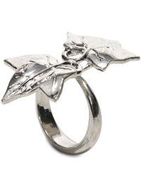 Alexander McQueen | Metallic Ivy Ring | Lyst