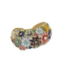 Kenneth Jay Lane | Blue Multi Color Flower Cuff | Lyst