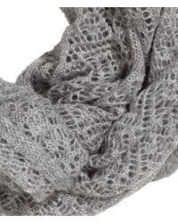H&M | Gray Pattern-Knit Tube Scarf | Lyst