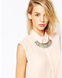 Ted Baker - Green Pear Drop Necklace - Lyst