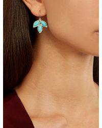 Irene Neuwirth | Blue Gemstone Triple-marquise Earrings | Lyst