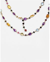 Effy | Multicolor Semi-precious, Multi-stone 14k Gold Necklace | Lyst