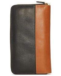 Polo Ralph Lauren | Black Two-toned Leather Zip-around Wallet for Men | Lyst