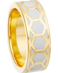 Astley Clarke | Gray Moonlight Honeycomb Ring | Lyst