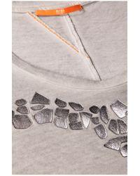 BOSS Orange - Gray Cotton T-shirt 'timary' - Lyst