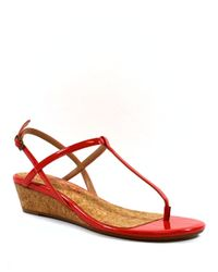 Splendid | Red Spledgewood Wedge Sandals | Lyst