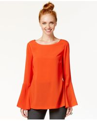 Eci | Orange Bell-sleeve Top | Lyst