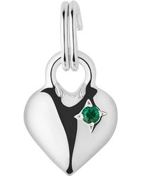 Links of London | Metallic Mini Heart Sterling Silver And Emerald Charm | Lyst