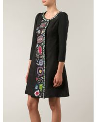 Libertine - Black Embellished Flared Dress - Lyst