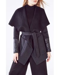 BCBGMAXAZRIA | Gray Hunter Open-front Wool Blend Jacket | Lyst