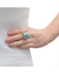 The Wildness Jewellery - Blue Geometric Turquoise Ring - Lyst