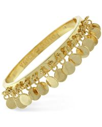 Vince Camuto | Metallic Gold-tone Disc Fringe Bangle | Lyst