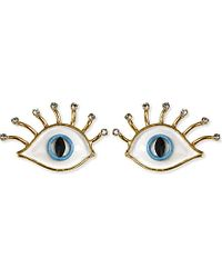 Erickson Beamon | Multicolor So Real Eyes Earrings | Lyst