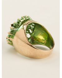 Iosselliani - Metallic 'Full Metal Jewels' Signet Ring - Lyst