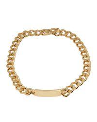 Luv Aj Metallic Id Tag Chain Necklace