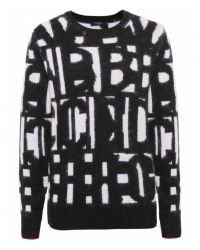 Paul Smith Black Label - Black Letter Sweater - Lyst