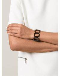 Rebecca | Black 'elizabeth' Link Bracelet | Lyst