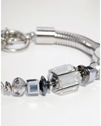 French Connection - Metallic Slinky Mixed Bead Bracelet - Lyst