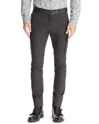 HUGO - Black 'hiward' | Slim Fit, Stretch Cotton Blend Cargo Pants for Men - Lyst