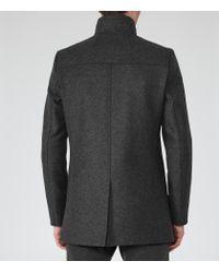 Reiss | Gray Lansky Funnel Collar Coat for Men | Lyst