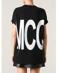 McQ   Black Short Sleeve Logo Sweater   Lyst