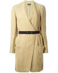 Isabel Marant | Natural Belted Coat | Lyst