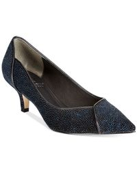 Adrianna Papell | Blue Lydia Evening Low-heel Pumps | Lyst