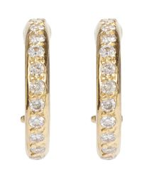 Ileana Makri | Metallic Diamond & Gold Huggie Hoops | Lyst