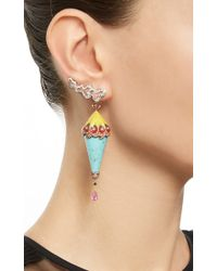 Lydia Courteille | One Of A Kind Multicolor Drop Earrings | Lyst