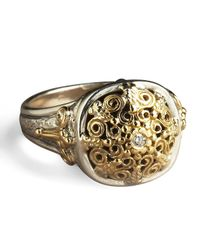 Konstantino - Metallic Ornate Diamond Ring - Lyst