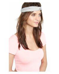 Express - Gray Crossed Loop Stretch Headband - Lyst