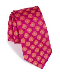 Ted Baker | Pink Floral Silk Tie for Men | Lyst