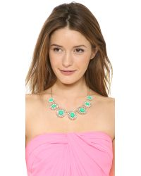 kate spade new york - Green Capri Garden Necklace - Lyst