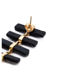 Melissa Joy Manning | Black 14kt Gold Druzy Pendant Earrings | Lyst