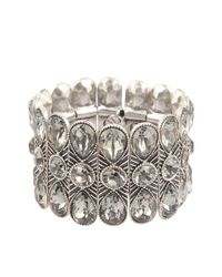 Philippe Audibert | Metallic Kelly Crystal Teardrops Cuff | Lyst