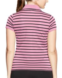 Lauren by Ralph Lauren | Pink Plus Striped Pique Polo Shirt | Lyst
