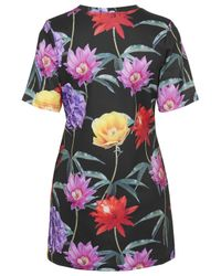 TOPSHOP - Multicolor Womens Floral Print Tshirt Dress by Jaded London  Multi - Lyst