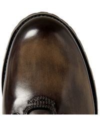 Berluti - Brown Brunico Venezia Leather Boots for Men - Lyst