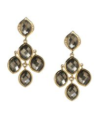 Elizabeth Showers | Black Simone Diamond Doublet Chandelier Earrings | Lyst