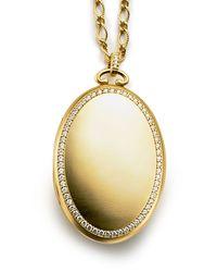 Monica Rich Kosann - Metallic 18k Gold Pavé Diamond 6-image Locket Necklace - Lyst